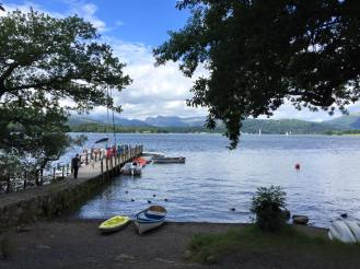 View of the Langdales from Brockhole on Windermere