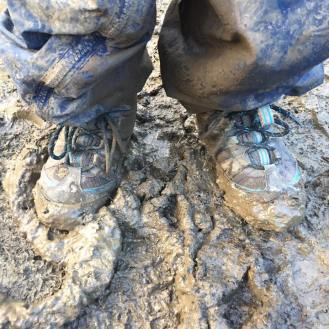 Very muddy! Wish we'd worn wellies!