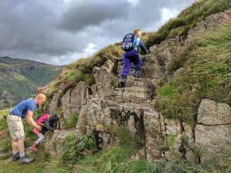 Craggy climb up Side Pike