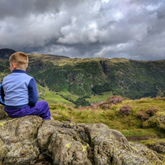 At the top of Side Pike, looking towards the Langdales