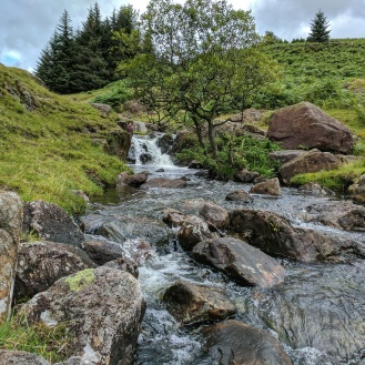 Cascades near footbridge near Blea Tarn