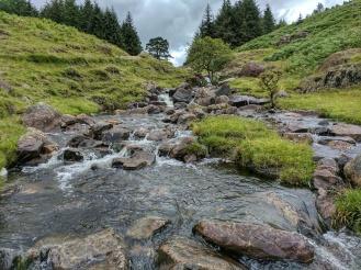 Cascades near footbridge near Blea Tarn