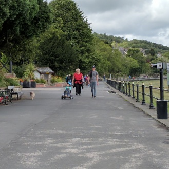 Lovely wide car-free path suitable for all at Grange over Sands