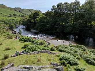 View of the River Duddon from Sella Rock near Ulpha