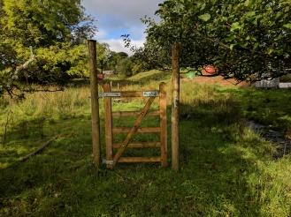 The strange gate at Simpson Ground farm!