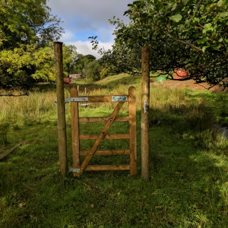 The strange gate at Simpson Ground farm!
